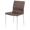 This item: Colter Dark Brown and Silver Dining Chair