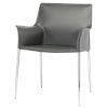 This item: Colter Dark Gray and Silver Dining Chair