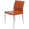 This item: Colter Ochre and Silver Armless Dining Chair