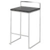 This item: Genoa Black and Silver Counter Stool