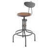 This item: Brown and Black Adjustable Stool