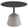This item: Exeter Matte Black and Gray Side Table