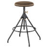 This item: Akron Brown and Black Counter Stool