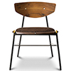 This item: Kink Matte Umber Tan Dining Chair