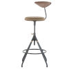 This item: Akron Brown and Black Bar Stool