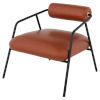 This item: Cyrus Brown and Dark Gray Occasional Chair