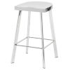 This item: Icon Polished Silver Counter Stool