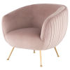 This item: Sofia Blush and Gold Occasional Chair
