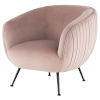 This item: Sofia Blush and Black Occasional Chair