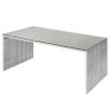 This item: Amici Brushed Silver Dining Table