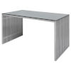 This item: Amici Brushed Silver Desk