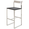This item: Camille Black and Silver Bar Stool