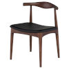 This item: Saal Matte Black and Walnut Dining Chair