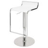 This item: Alexander White and Silver Adjustable Stool