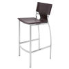 This item: Lisbon Brown and Silver Counter Stool