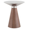 This item: Iris Brushed Silver and Walnut Side Table