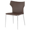 This item: Wayne Dark Brown and Silver Dining Chair