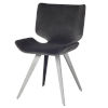This item: Astra Black and Gray Dining Chair