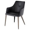 This item: Renee Black and Walnut Dining Chair