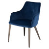 This item: Renee Navy and Walnut Dining Chair