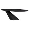 This item: Oblo Matte Black Dining Table