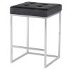 This item: Chi Matte Black and Silver Counter Stool