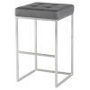 This item: Chi Matte Gray and Silver Bar Stool