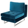 This item: Janis Midnight Blue and Silver Armless Sofa Extension