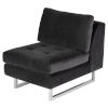 This item: Janis Black Armless Sofa Extension