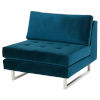 This item: Janis Midnight Blue and Silver Sofa Extension