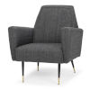 This item: Victor Dark Gray Occasional Chair