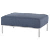 This item: Bryce Blue and Silver Ottoman