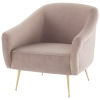 This item: Lucie Blush and Gold Occasional Chair