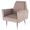 This item: Victor Blush and Black Occasional Chair