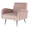 This item: Hugo Blush and Black Occasional Chair