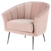 This item: Aria Blush and Black Occasional Chair