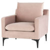 This item: Anders Blush and Black Occasional Chair
