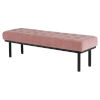 This item: Arlo Dusty Rose and Black Bench