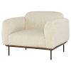 This item: Benson Off White and Black Occasional Chair