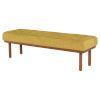 This item: Arlo Yellow and Brown Bench
