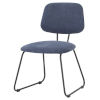 This item: Ofelia Blue and Black Dining Chair