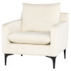 This item: Anders Beige and Walnut Occasional Chair