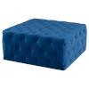 This item: Tufty Sapphire Blue Square Ottoman