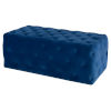 This item: Tufty Sapphire Blue Rectangle Ottoman