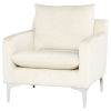 This item: Anders Off White and Silver Occasional Chair