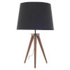 This item: Triad Black and Walnut One-Light Table Lamp