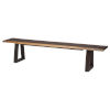 This item: Napa Brown and Black Bench