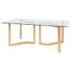 This item: Paula Clear and Brushed Gold Dining Table