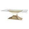 This item: Praetorian Clear and Gold Dining Table
