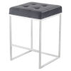 This item: Chi Tarnished Silver and Stainless Steel Counter Stool